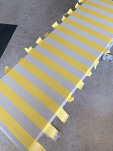 How to add stripes to furniture