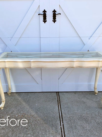 Ornate Sofa Table Makeover
