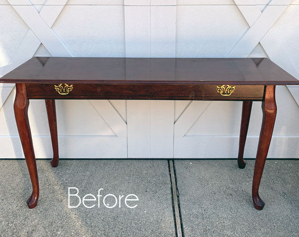Queen Anne Sofa Table Makeover A Bonus Redo Confessions Of Serial Do It Yourselfer - What Color Should A Sofa Table Be
