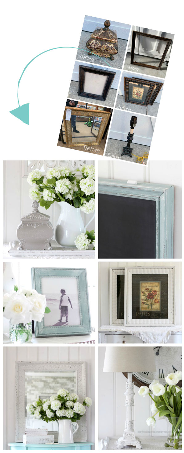 Thrift store decor revived with a simple paint job!