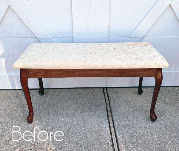 Queen Anne Bench Makeover