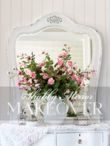 Shabby Chic Mirror Makeover