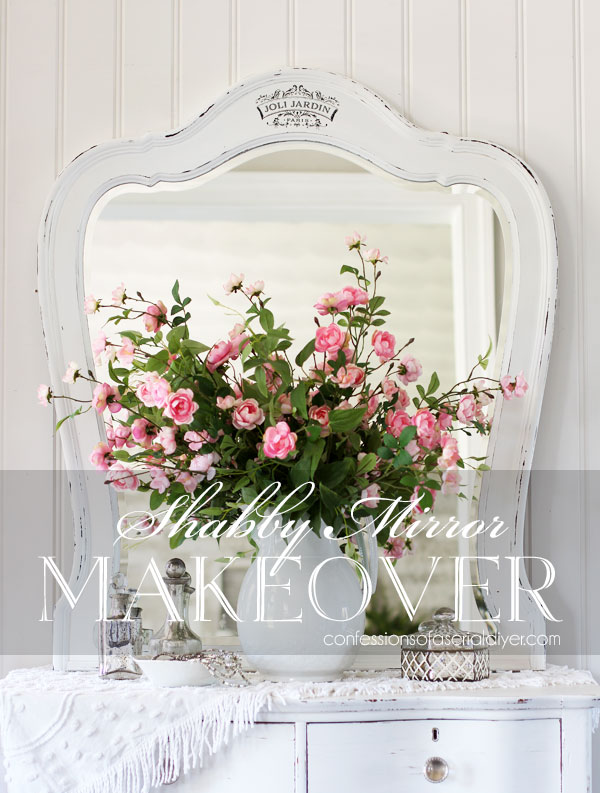 Shabby Mirror Makeover