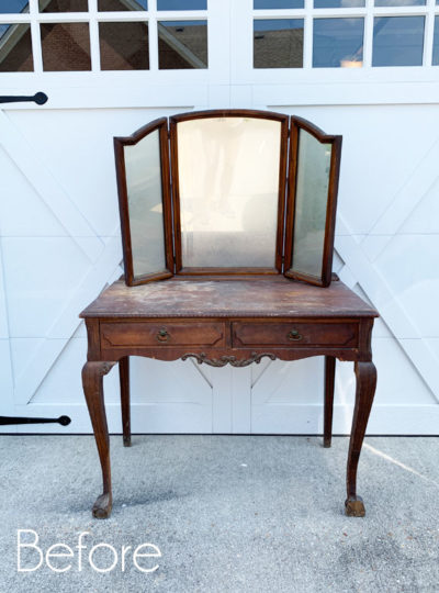 Mary's Antique Dressing Table Makeover