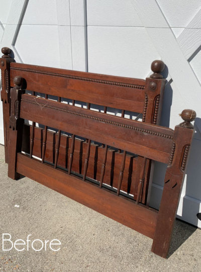 Antique Twin Headboard Makeover