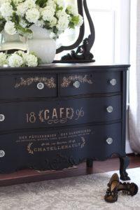 Black serpentine dresser