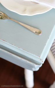 Savannah Mist Painted drop leaf table