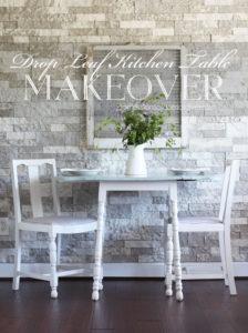 Drop Leaf Kitchen Table Makeover