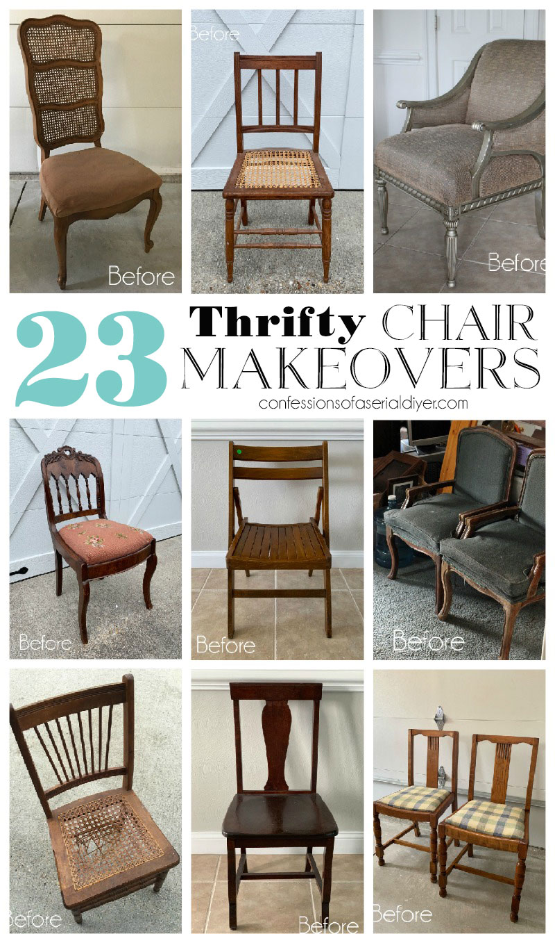23 Thrifty Chair Makeovers Confessions Of A Serial Do It Yourselfer
