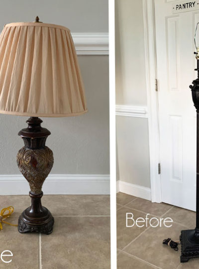 Thrift Store Lamp Makeovers