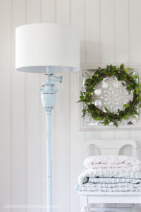 Blue painted lamp