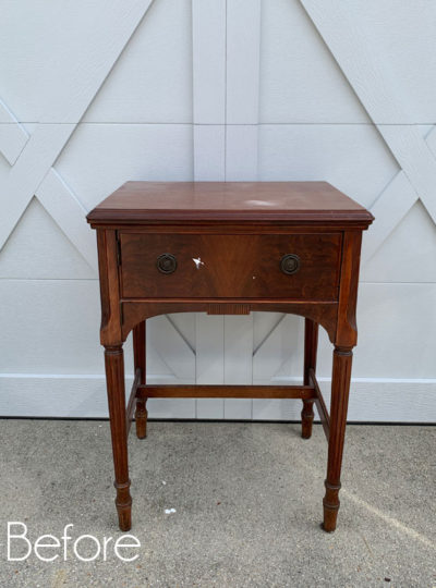 Yard Sale Sewing Machine Table Makeover