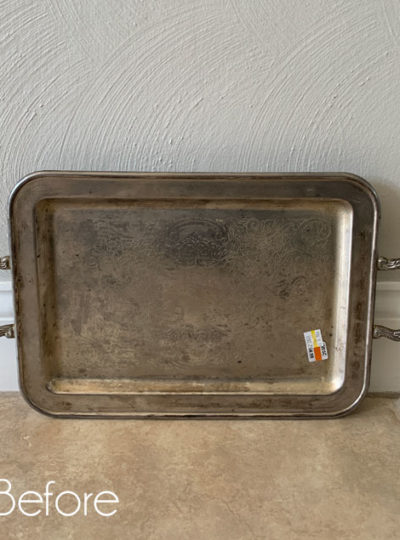 $2 Thrift Store Silver Tray Makeover