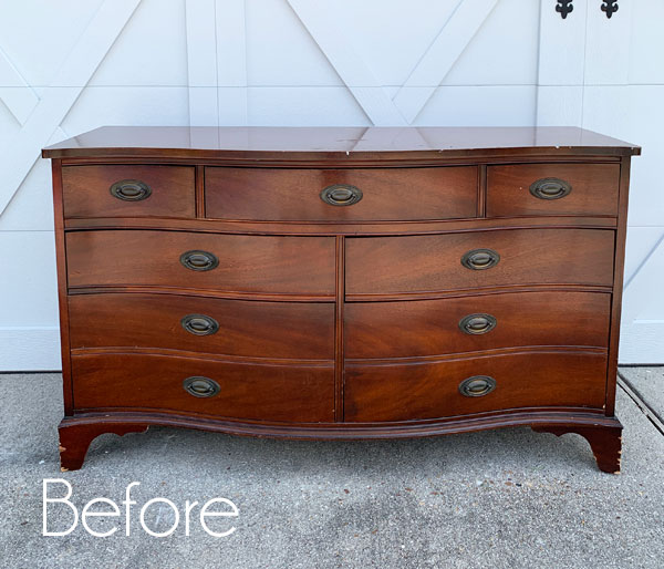$60 Thrift Store Dresser with Transfer