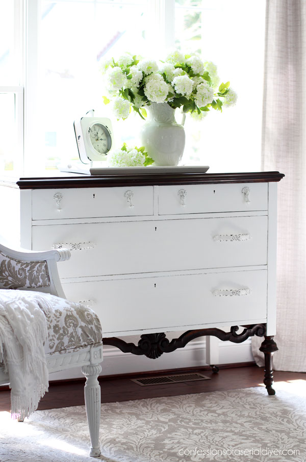 How to paint an antique dresser