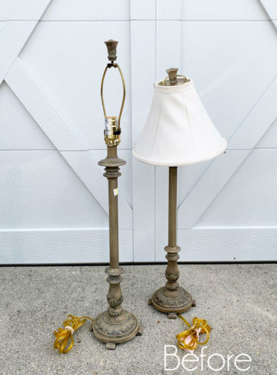 Thrifted Buffet Lamps Makeover
