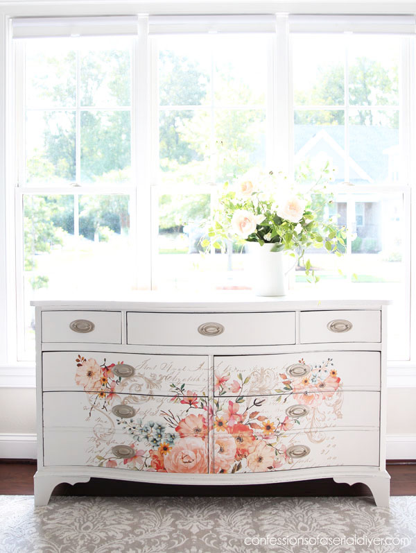 Dresser with Rose Celebration Transfer