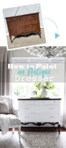 How to paint an antique dresser