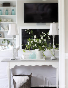 Painted Buffet Lamps