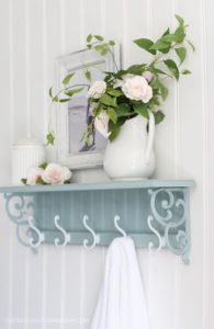 Home Interiors Shelf Makeover with bead board