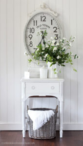 Painted sewing machine cabinet