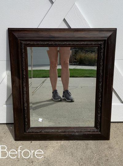 $4 Thrift Store Mirror Makeover