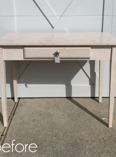 $20 Thrift Store Desk Makeover