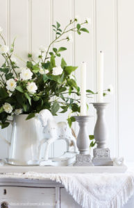 French Linen candlesticks