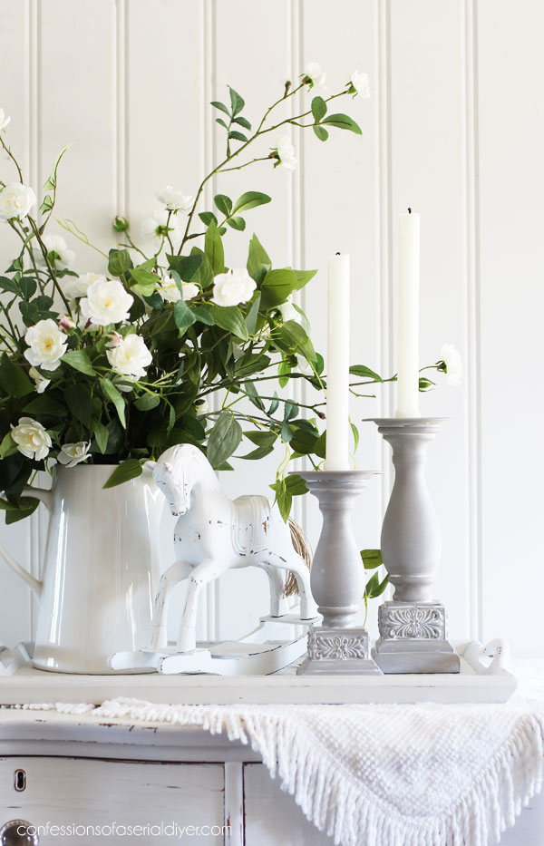 French Linen candlesticks