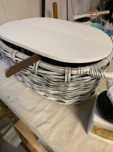Painting a basket