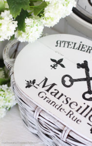 Painted and stenciled basket