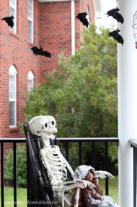 Outdoor skeleton decor