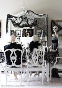 Skeleton dinner party