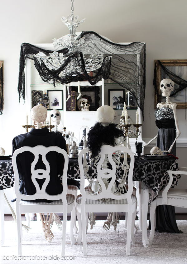 Skeleton dinner party