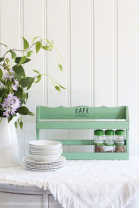 Spice rack painted in Mint Julep