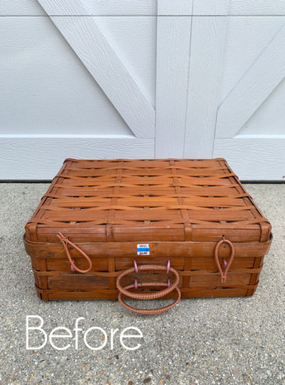 $3 Thrift Store Basket Makeover (with Liner!)