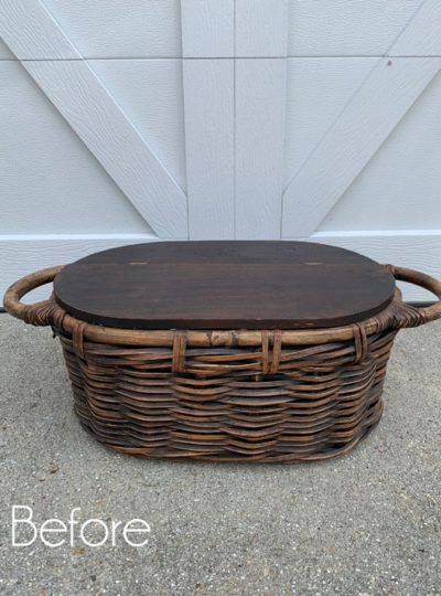 Stenciled Basket Makeover