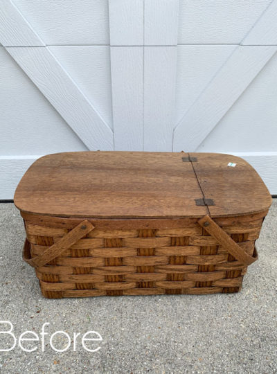 $6 Picnic Basket Makeover with Transfer