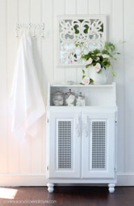 Turn a wall cabinet into a free standing cabinet by adding feet!