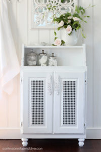 Wall cabinet repurposed into a floor cabinet