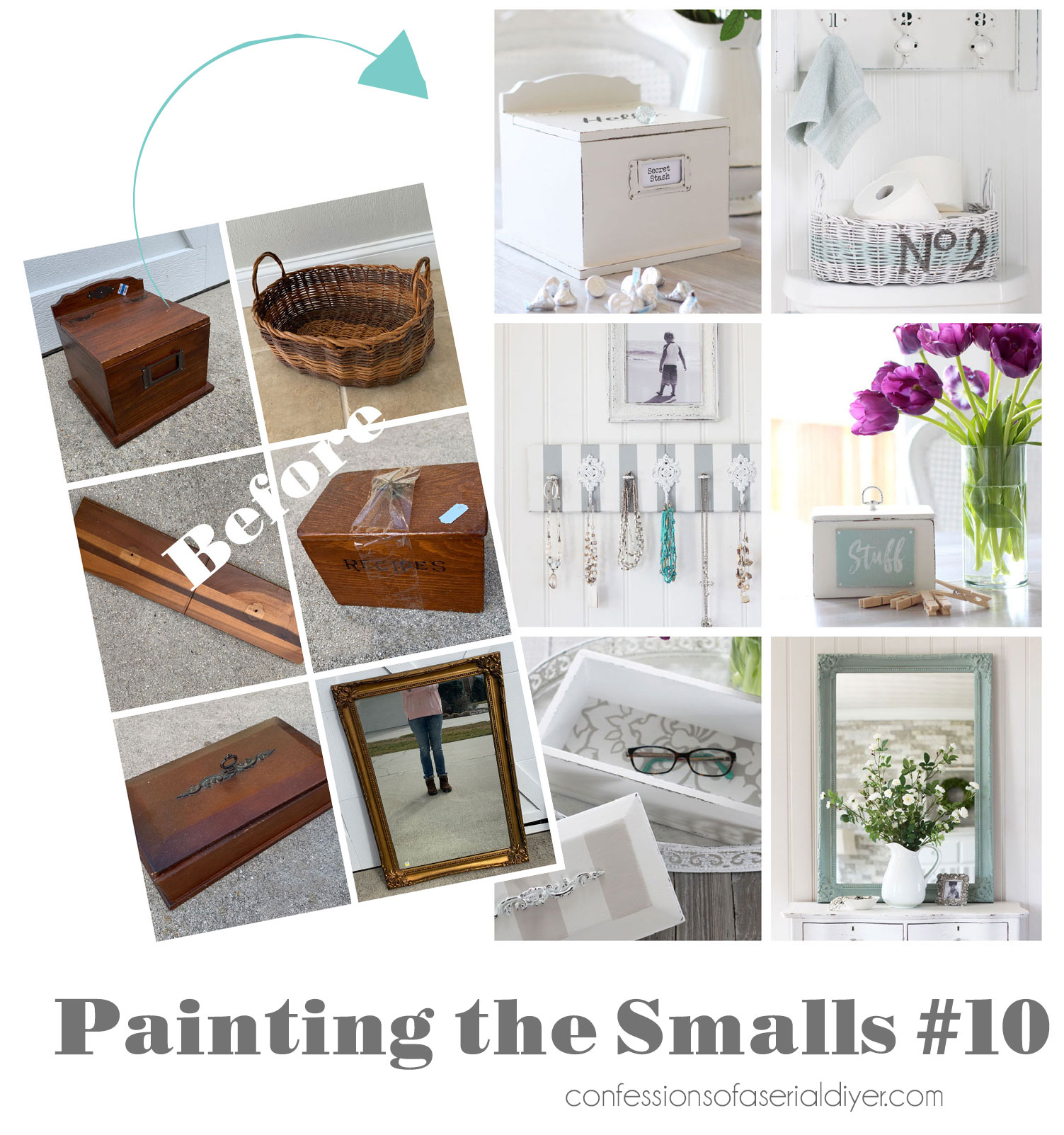 Painting the Smalls...small painting projects anyone can do!