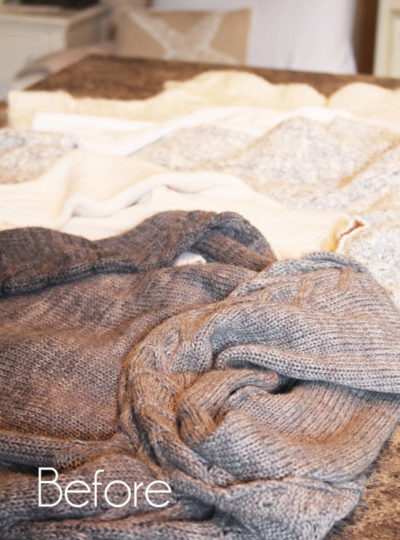 How to Make Knit Stockings from old Sweaters