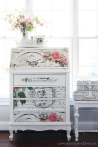 How to add decoupage paper to furniture