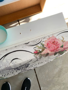 Adding tissue paper to furniture