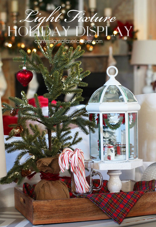Christmas Cloche from Light fixture