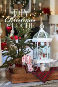 DIY Christmas Cloche from a light fixture