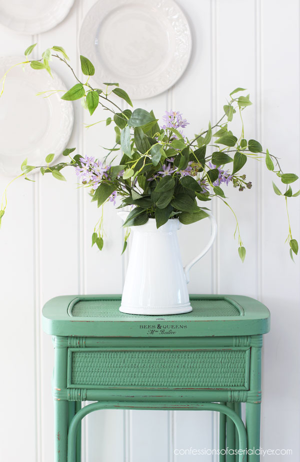 Side table painted in Kudzu by Dixie Belle