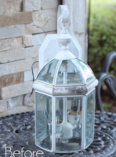 DIY Christmas Cloche from an Old Light Fixture