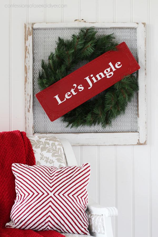 DIY Christmas Sign Wreath