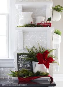 Christmas Kitchen Vignette
